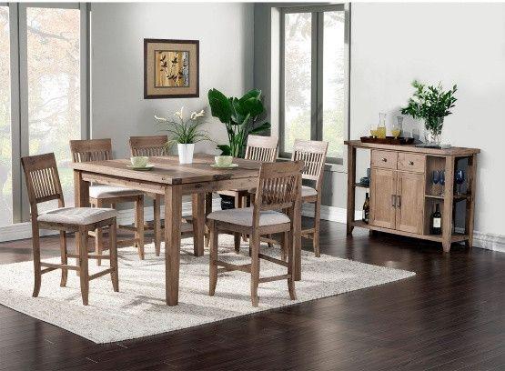 Alpine Furniture Aspen 7 Piece Counter Height Dining Table Set Amusing Aspen Home Dining Room Furniture Inspiration Design