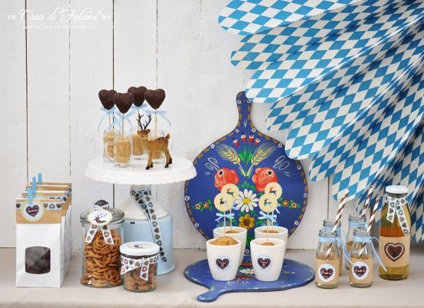 Oktoberfest food table decorations | Oktoberfest Party I sweet table I party table I party decoration I ...
