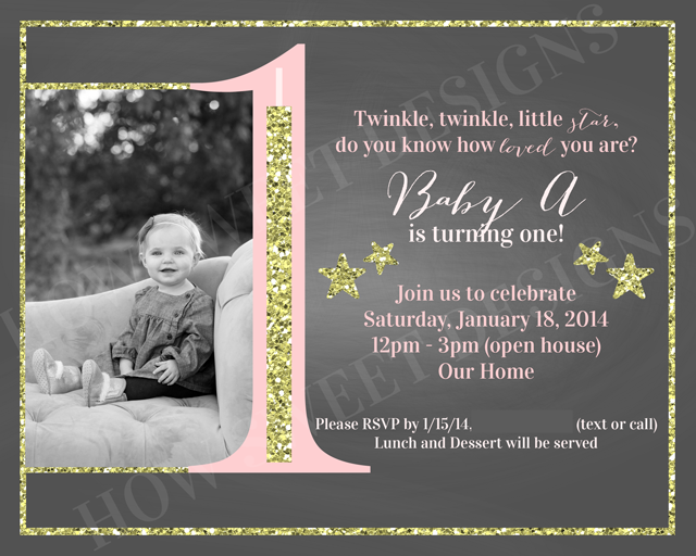 The theme for this little ones birthday was Twinkle Twinkle