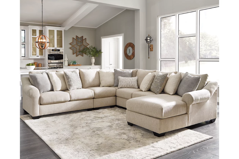 Carnaby 5 Piece Sectional With Chaise Ashley Furniture Homestore Ashley Furniture Living Room Sectional Sofas Living Room Beige Sectional Living Room