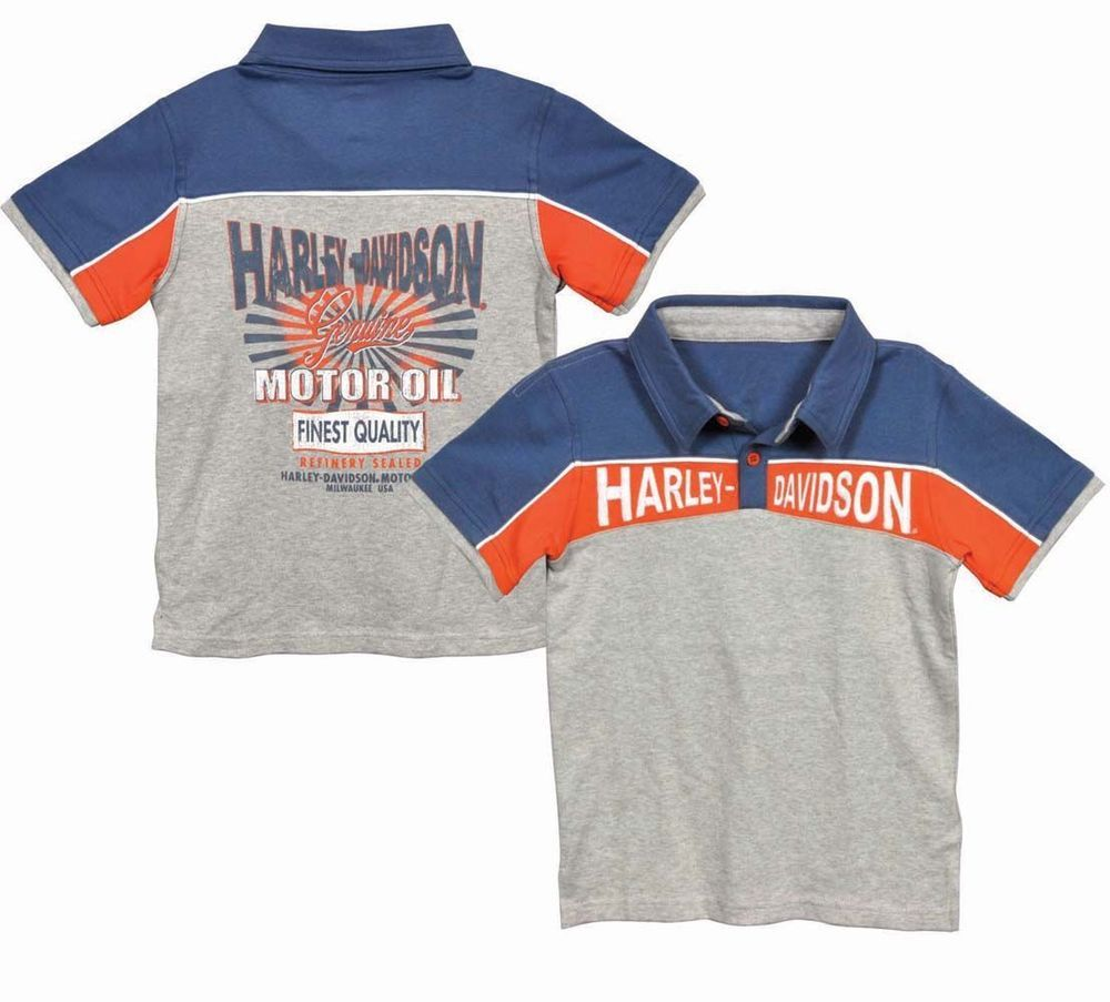 eaf514ed Harley-Davidson Toddler Boy Polo T-Shirt - Harley- Kids Clothing # HarleyDavidson #Everyday