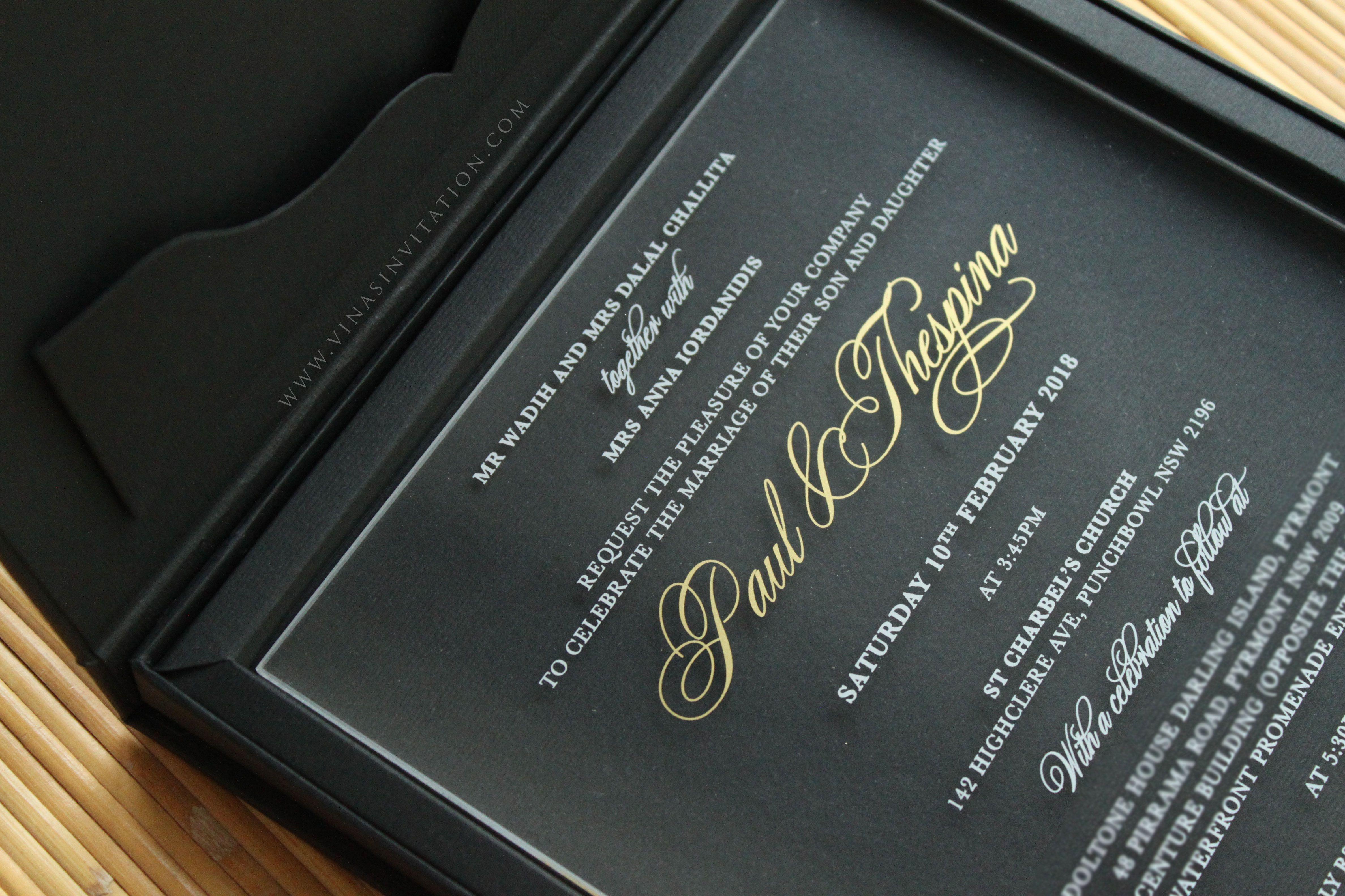 vinas invitation. sydney wedding invitation. indonesia