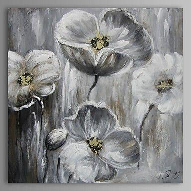 Ölgemälde moderne abstrakte Blume Hand bemalte Leinwand mit gestreckten Rahmen – EUR € 99.99