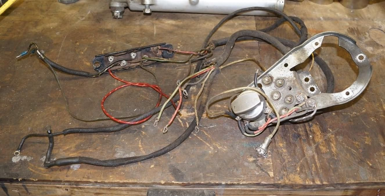 #harley HARLEY SHOVELHEAD 1969 FL FLH 5 LIGHT INSTRUMENT PANEL WIRING  HARNESS TERMNL BOX please
