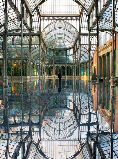 ART: Kimsooja's Room of Rainbows  South Korean-born artist Kimsooja has had a long, intense career full of installations, performances, photography, videos and site-specific project. This particular installation from 2006 is at the Palace de Cristal in Madrid.