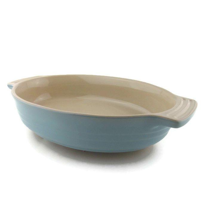 Le Creuset Poterie Oval Baking Dish Pale Blue 9\