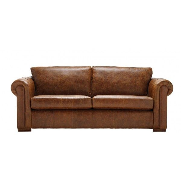 Aspen 3 Seater Sofa In Leather. Minimalistic Yet Stylish And Compliments A  Wide Range Of