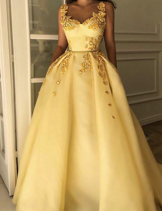 Belle Robe De Bal Jaune en 2020 | Robes de bal jaune, Belle robe de YA-22