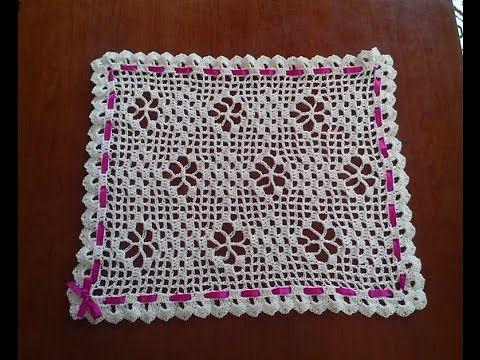 طريقة كروشيه مفرش مربع او مستطيل بالمقاس الذي تريدون الجزء1 Crochet Patterns Crochet Pattern