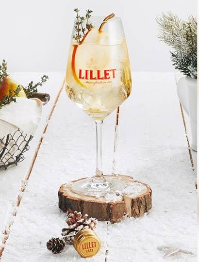 Photo of The sophisticated drink recipe with French flair: Lillet Winter Vive. Here g…