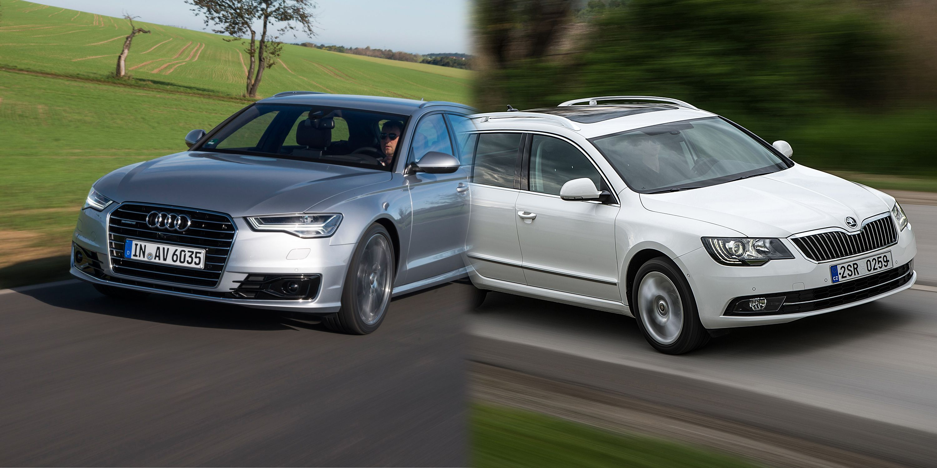 Skoda Superb Estate Vs Audi A6 Avant Family Estate Cars Compared