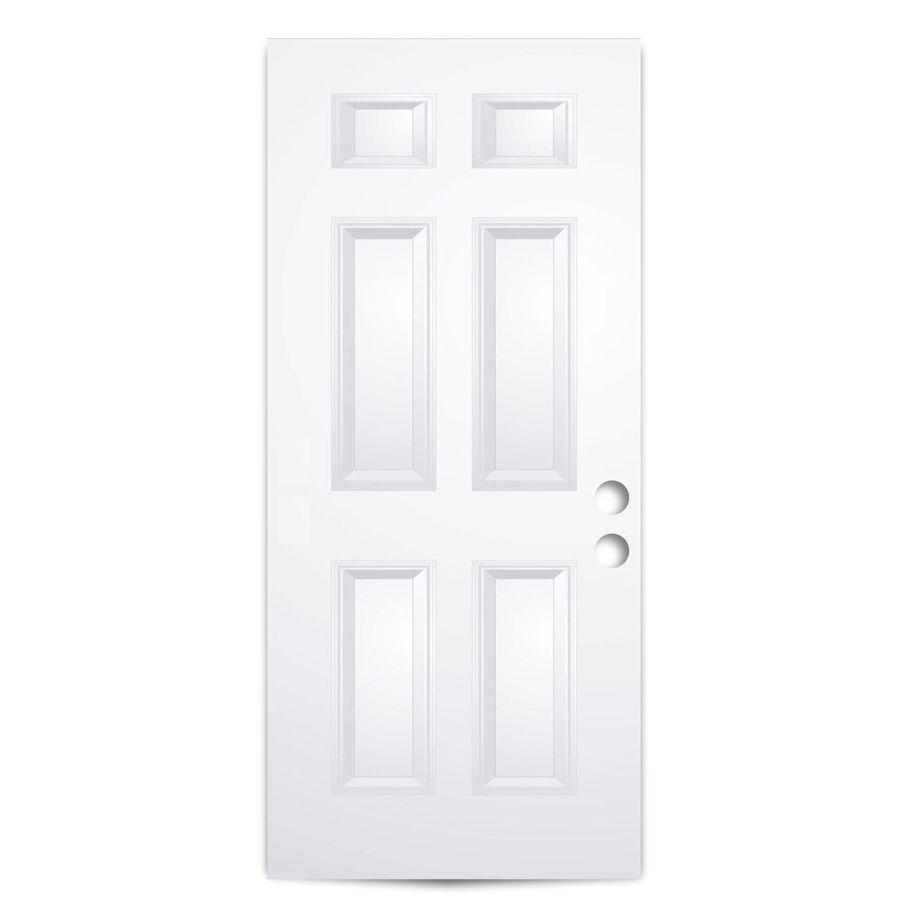 ReliaBilt Reversible Primed Steel Entry Door With Insulating Core (Common:  32 In X