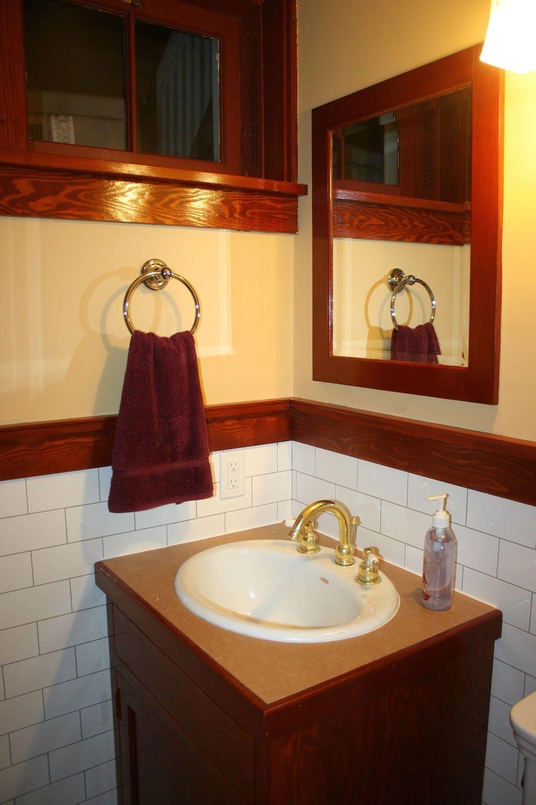 Laurelhurst Craftsman Bungalow: Basement Bath Mirror   Remodeled