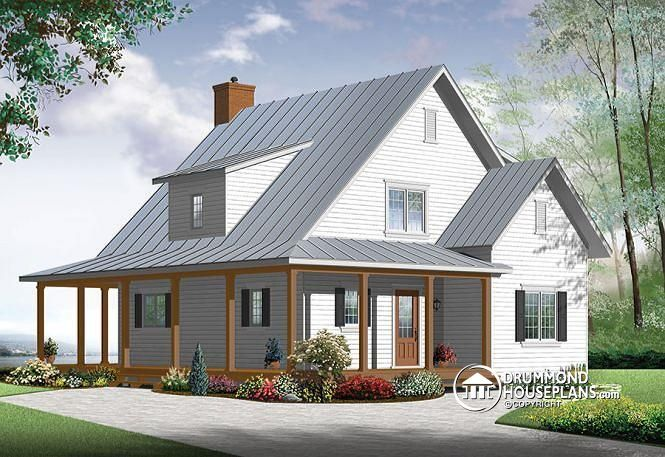 NEW MODERN FARMHOUSE ALTERNATIVE OF A POPULAR HOUSE PLAN  Beautiful and small new modern farmhouse home plan, 3 to 4 bedrooms, open floor plan, affordable, fireplece  http://www.drummondhouseplans.com/house-plan-detail/info/hickory-lane-2-farmhouse-1003098.html http://ow.ly/LExbt
