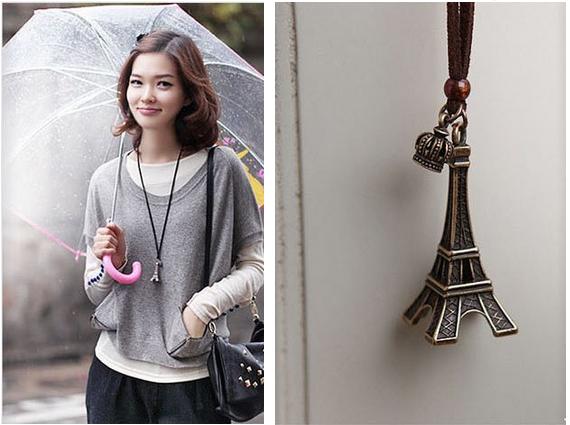 Torre Eiffel Colores Disponibles Dorada Y Plateado Fashion Pendant Necklace Necklace