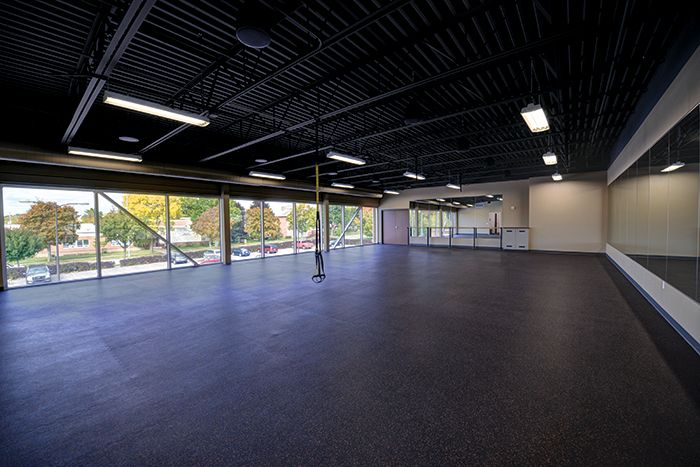 Burnsville High School Weight Room Fitness Sports Gym Architecture Design Education Colorful Eq School Gymnasium Architecture Engineering Architecture