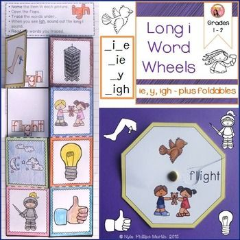 Long i words with i-e igh y and ie | See more best ideas about Phonics