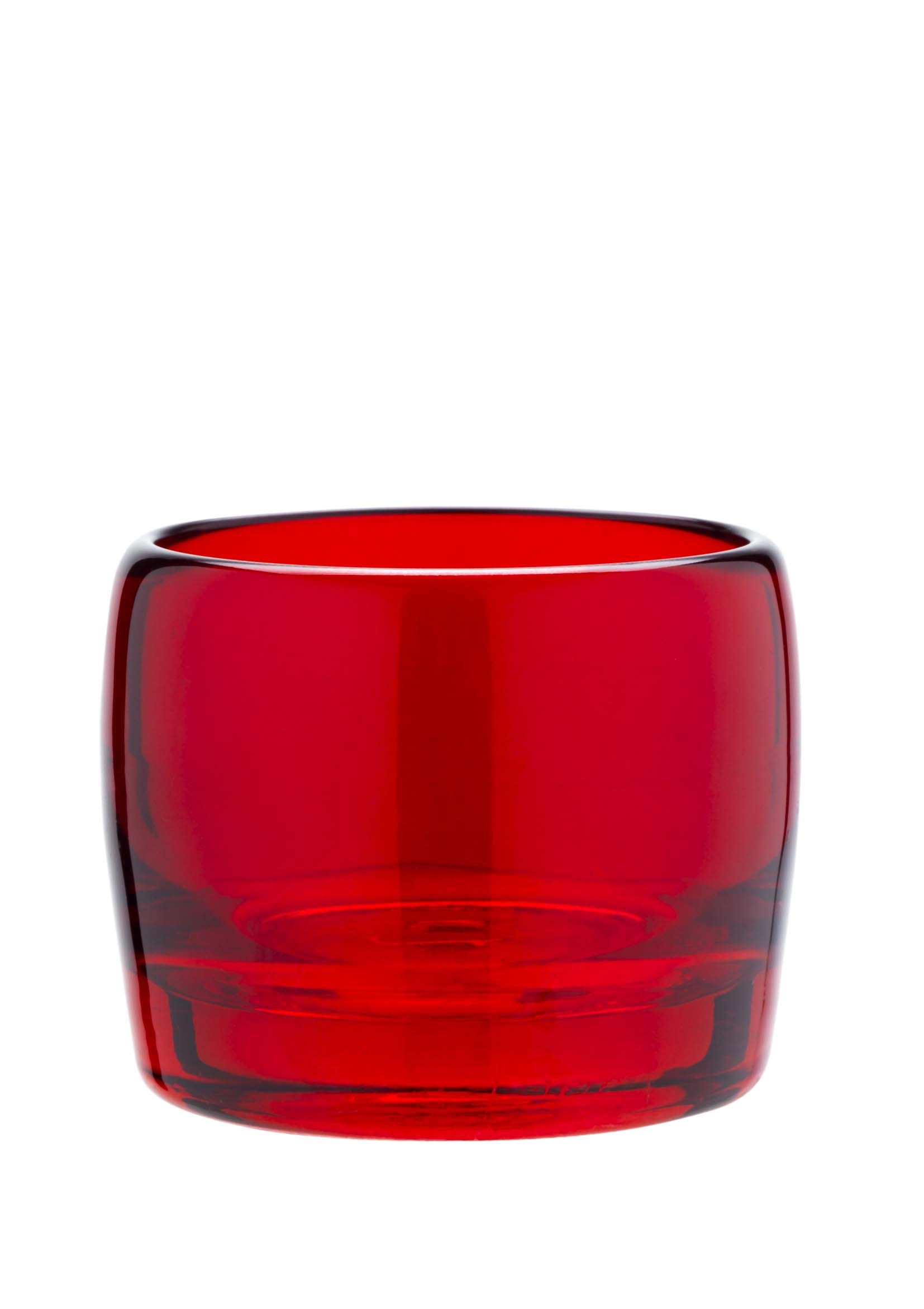This red glass votive is perfect for a mixandmatch style priced