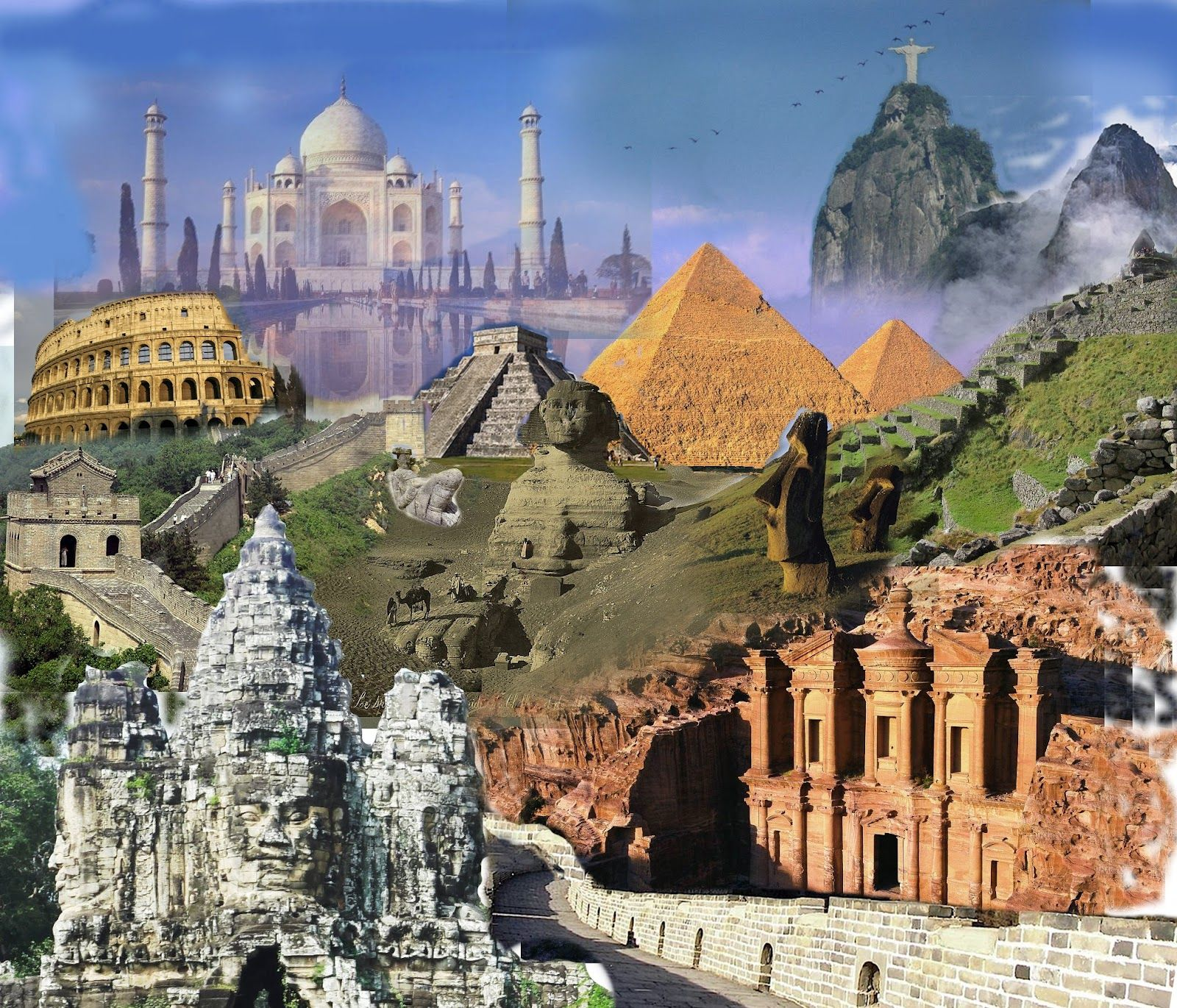 the seven wonders of the world - HD 1600×1371