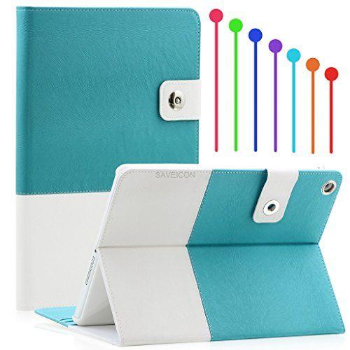 cool SAVEICON Blue Hybrid iPad Air / iPad five PU leather