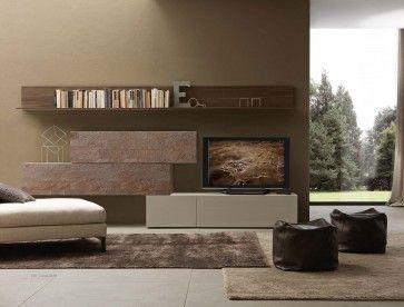 Composizione soggiorno serie I-modulART 272 | Tv a muro ...