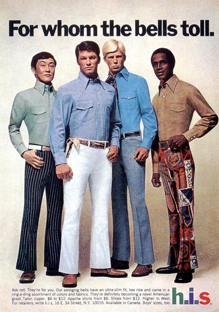 1970s h i s menswear ad estilismo ropa y arte - Estilismo anos 70 ...