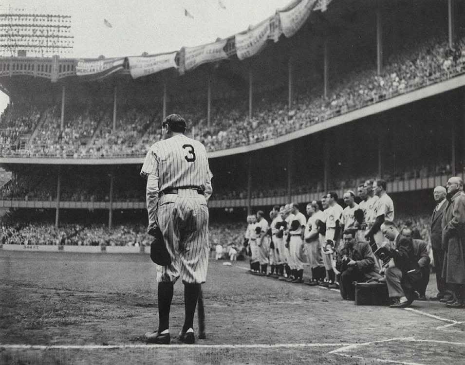 3 Uniform,Yankees,Baseball,Sports,Stadium,Fans Babe Ruth,June 13,1948,No Photo