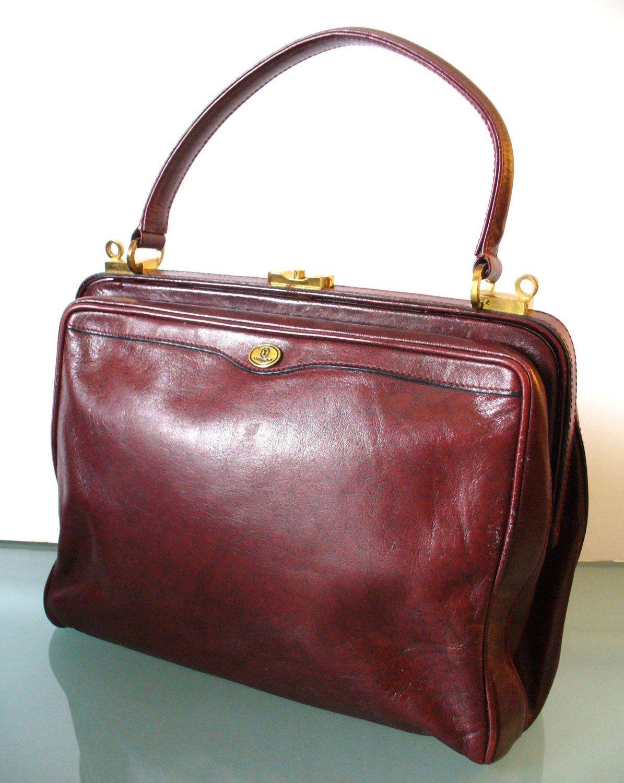 Vintage Oxblood Gold Pfeil Sport Handbag Made In W Germany By Theoldbagonline On Etsy