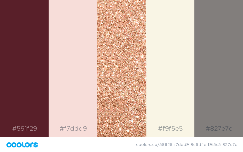 Actual Wedding Color Palette Marsala Blush Rose Gold Ivory Cream And Gray Gold Wedding Colors Wedding Color Palette Rose Gold Wedding