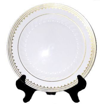 Elegant plastic dinnerware that looks like real china. Paper plates and napkins for any holiday or occasion.  sc 1 st  Pinterest & Princess Gold 7-1/2-inch Plastic Plates by EZ Ware Dishes. $8.99. A ...