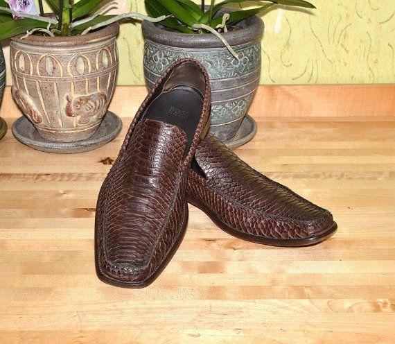 Hugo Boss Men's Luxury Snake Skin Shoes