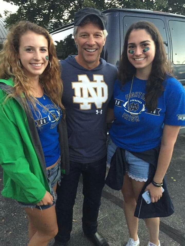 Jon Bon Jovi at the Notre Dame Fighting Irish game ...