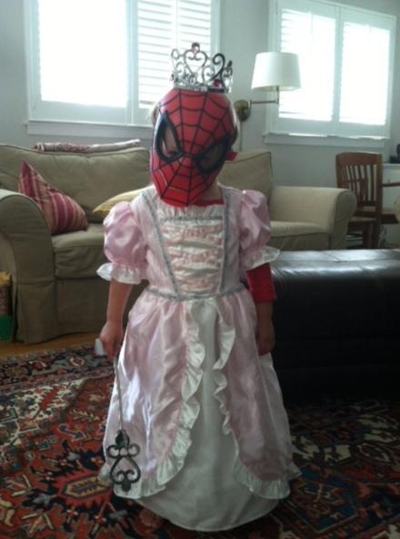 menina homem aranha