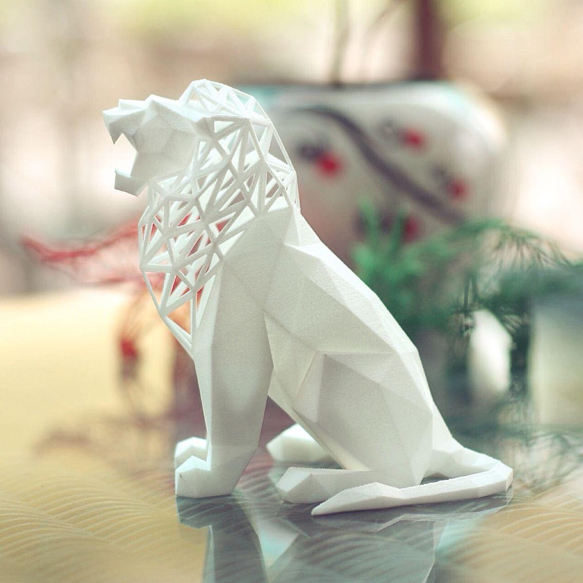 3dprinting Sculpture Artist: #roaring #lion #art # Sculpture #design By @formbyte And