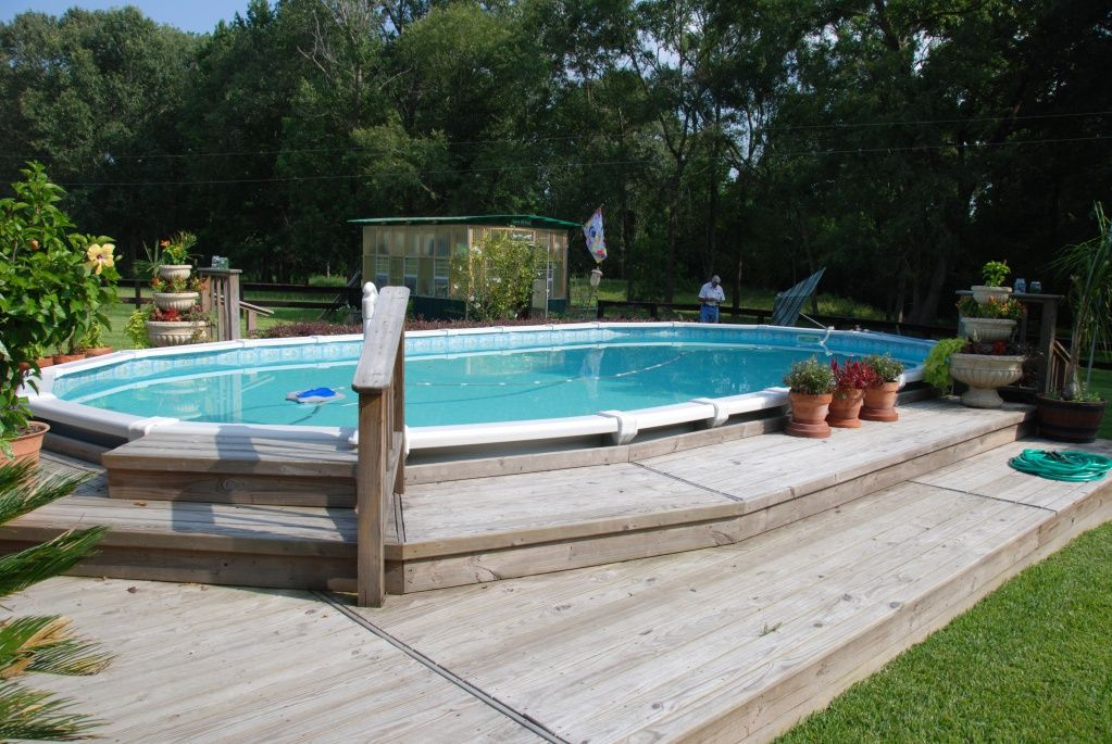 16 X 32 Ag Pool And Deck Swimming Pools Backyard In Ground Pools Above Ground Pool Landscaping