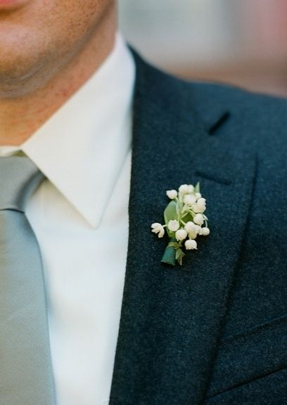 lily of the valley boutonniere, Lily of the ... | Grooms n groomens