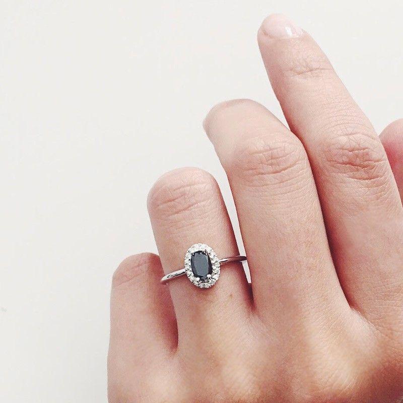 bague diamant noire