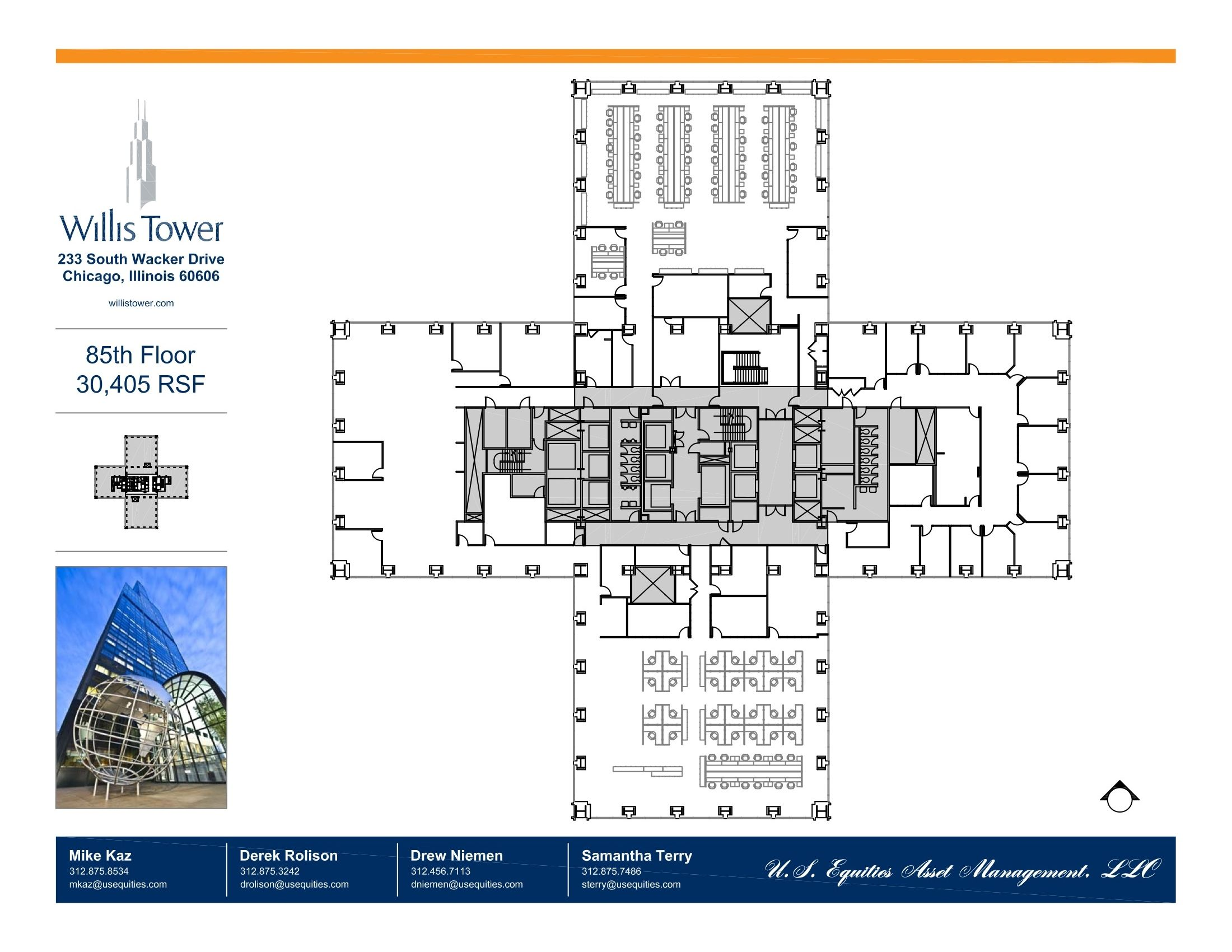 Willis Tower Floor Plans Chicago Il Usa With Images Miami