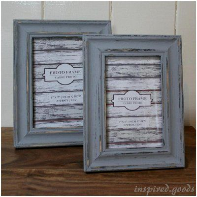 Distressed Wooden Grey Photo Frame / Inspired Goods