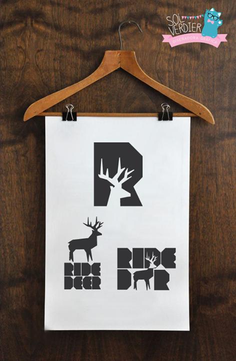 Diseño de logo y adaptaciones para Ride Deer