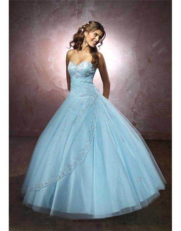a722c44908a luxusní světle modré plesové šaty na maturitní ples XXL-3XL - Hollywood  Style E-Shop