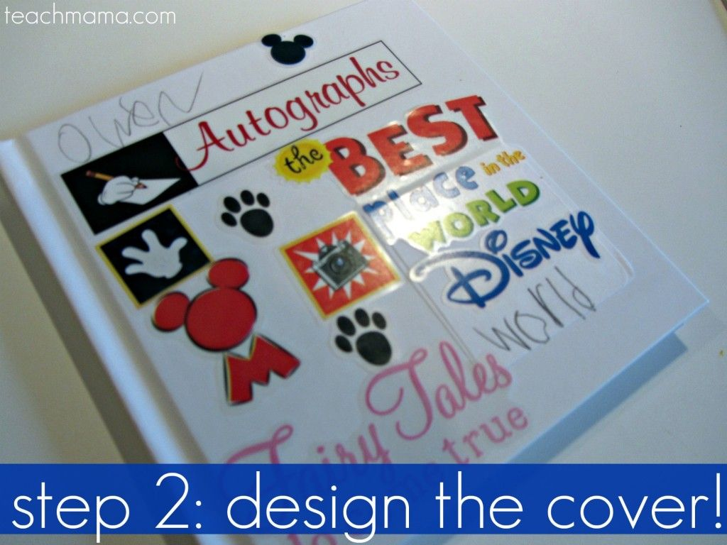 homemade disney autograph books travel pinterest autograph
