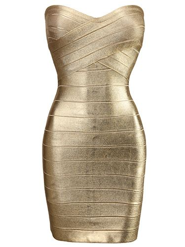 Gold Foil Sexy Strapless Metallic Party Bandage Dress http://www.misscircle.com/Dresses/Bandage-Dress/Gold-Foil-Sexy-Strapless-Metallic-Party-Bandage-Dress.html