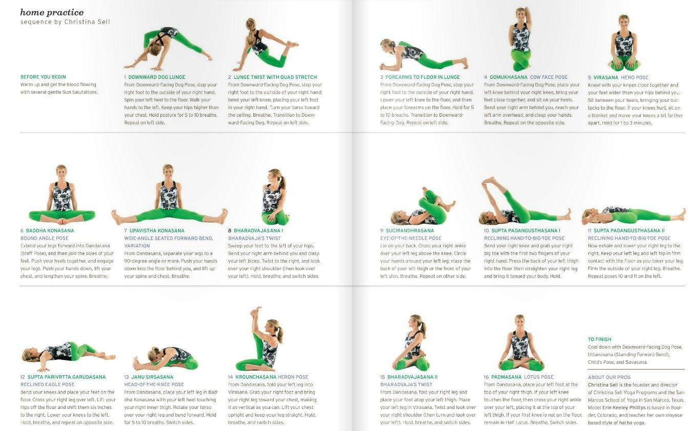 Yoga Sequence From Yoga Journal 14 Yoga Sequences Yoga Chart Yoga Journal
