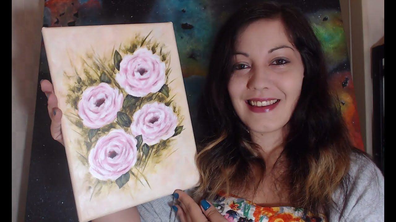 Roses Debutants Peinture Acrylique Facile Peintures Acryliques