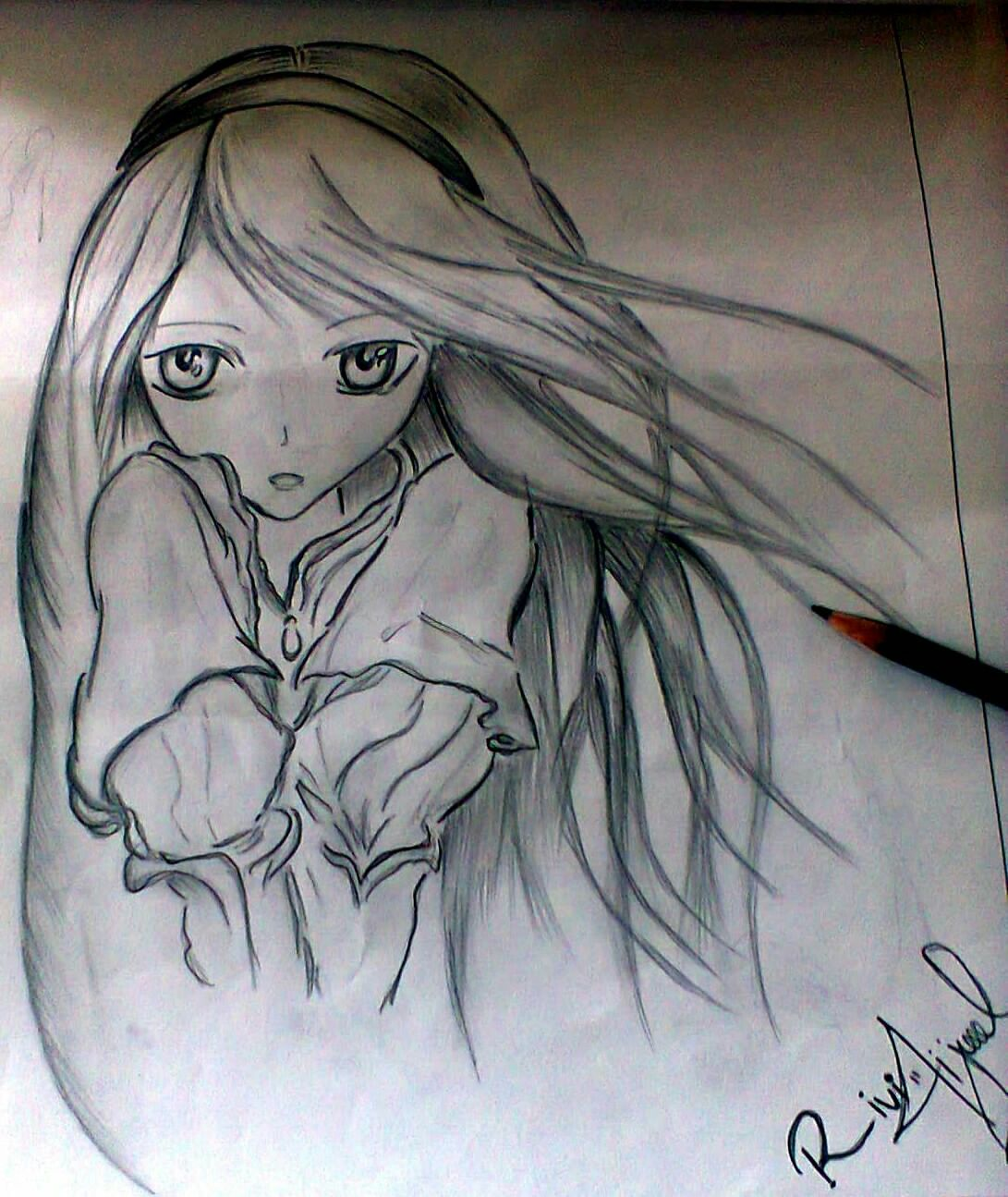 Sketsa Anime Sad