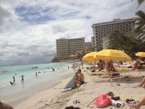 Any given day at Waikiki Beach