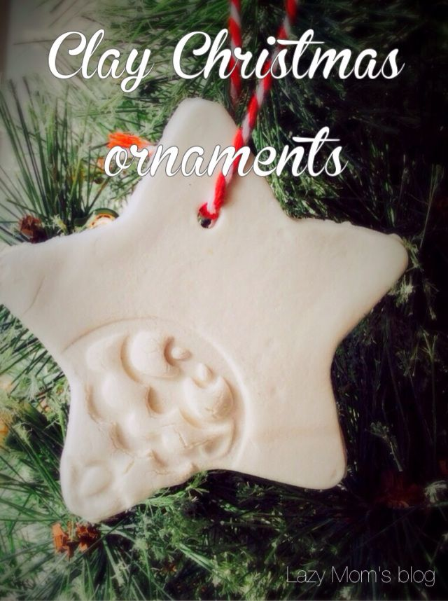Easy Christmas ornaments, the best and the easiest recipe to make perfectly smooth and white clay !