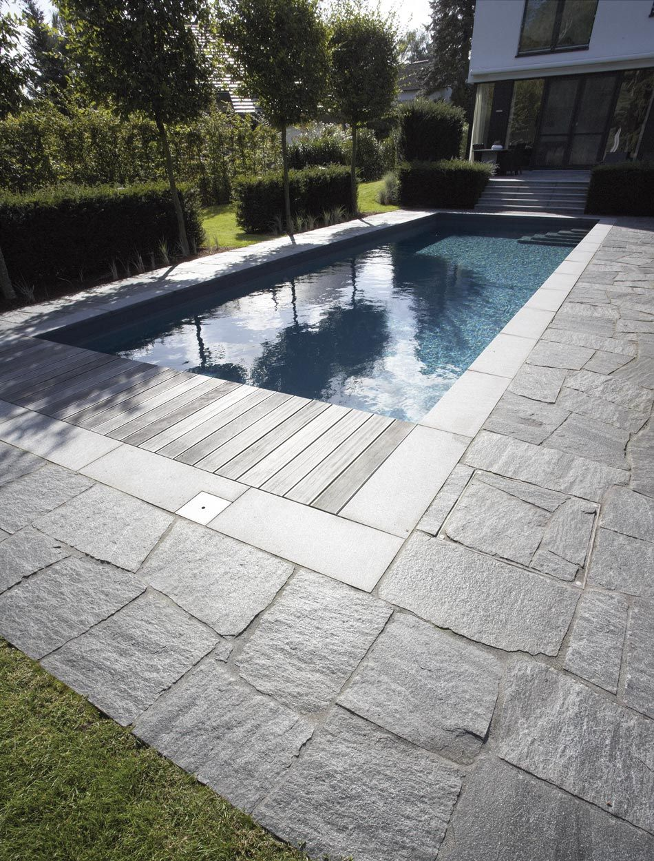 Metten Maggia Granit Maggia Granit Pool Umrandung Naturstein Terrasse Pool Terrasse