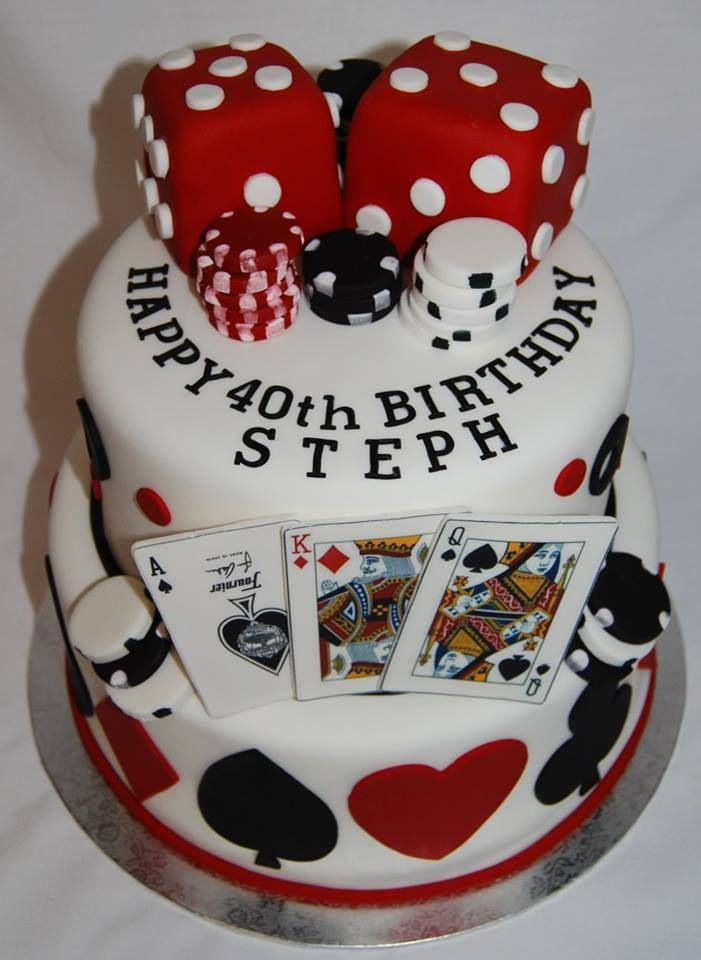 Casino Theme Birthday Cake 80s Party Pinterest Casino Theme